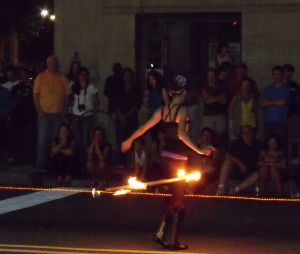 fire dancer in Raleigh