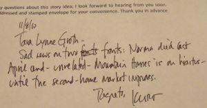 writer rejection letter