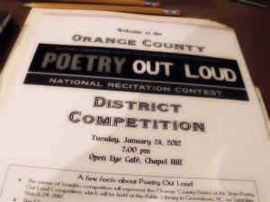 NC Poetry Out Loud
