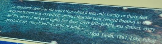 mark twain lake tahoe