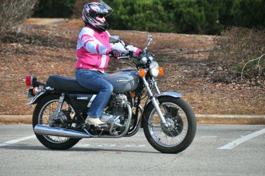 KZ400 motorcycle