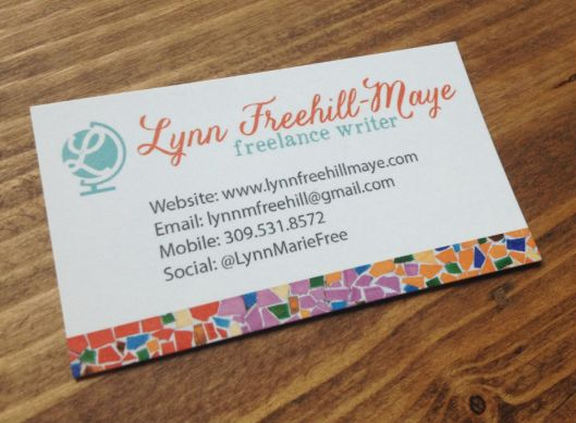 business cards for writers