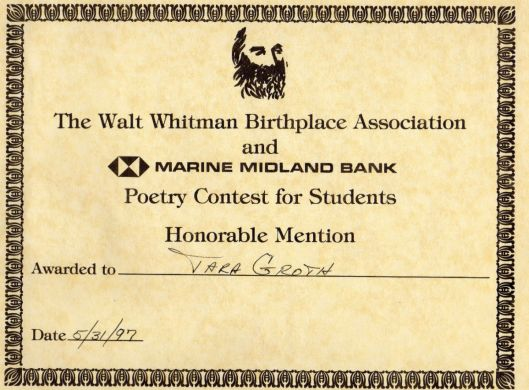 poetry award