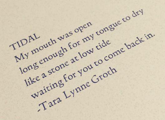 letterpress poetry