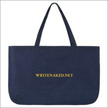 write naked tote bag