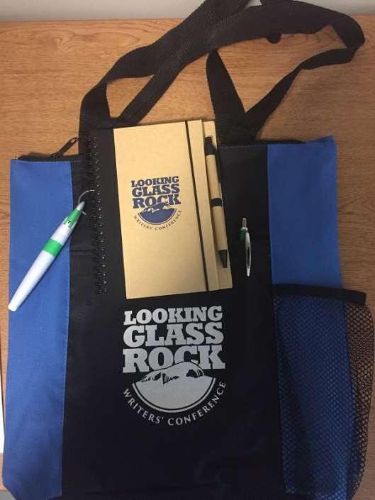 notebook and tote bag