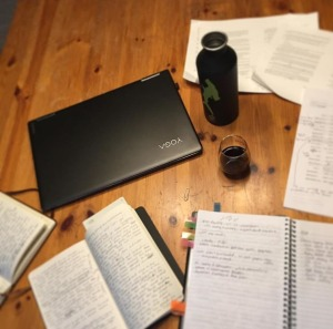 notebooks and laptop