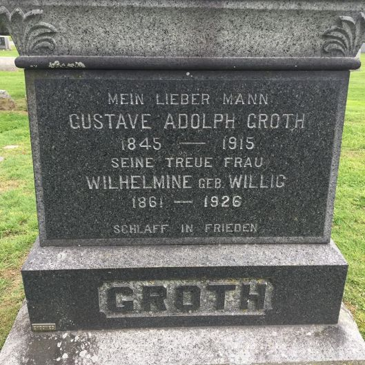groth family gravestone
